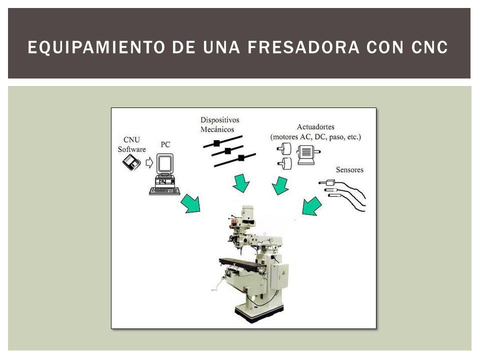 EQUIPAMIENTO DE UNA FRESADORA CON CNC