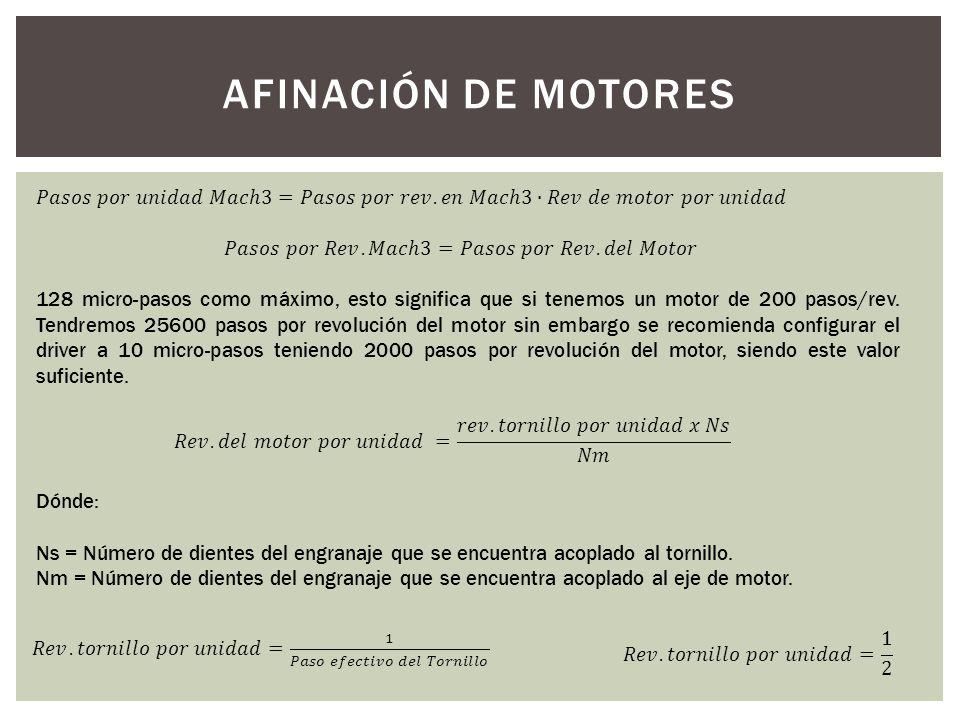 AFINACIÓN DE MOTORES