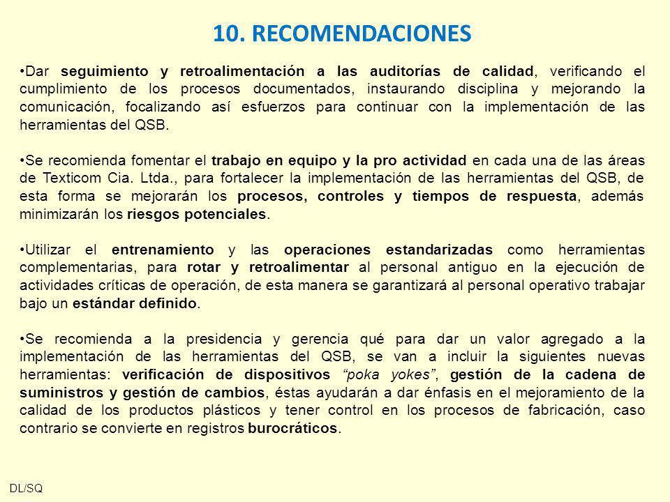 Dar seguimiento y retroalimentación a las auditorías de calidad, verificando el cumplimiento de los procesos documentados, instaurando disciplina y me