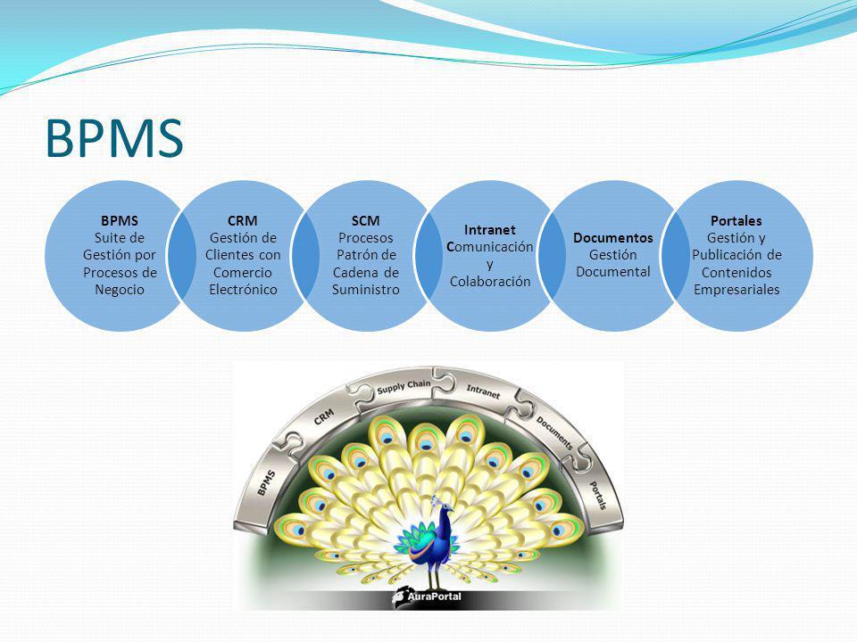 BPMS BPMS Suite de Gestión por Procesos de Negocio CRM Gestión de Clientes con Comercio Electrónico SCM Procesos Patrón de Cadena de Suministro Intran