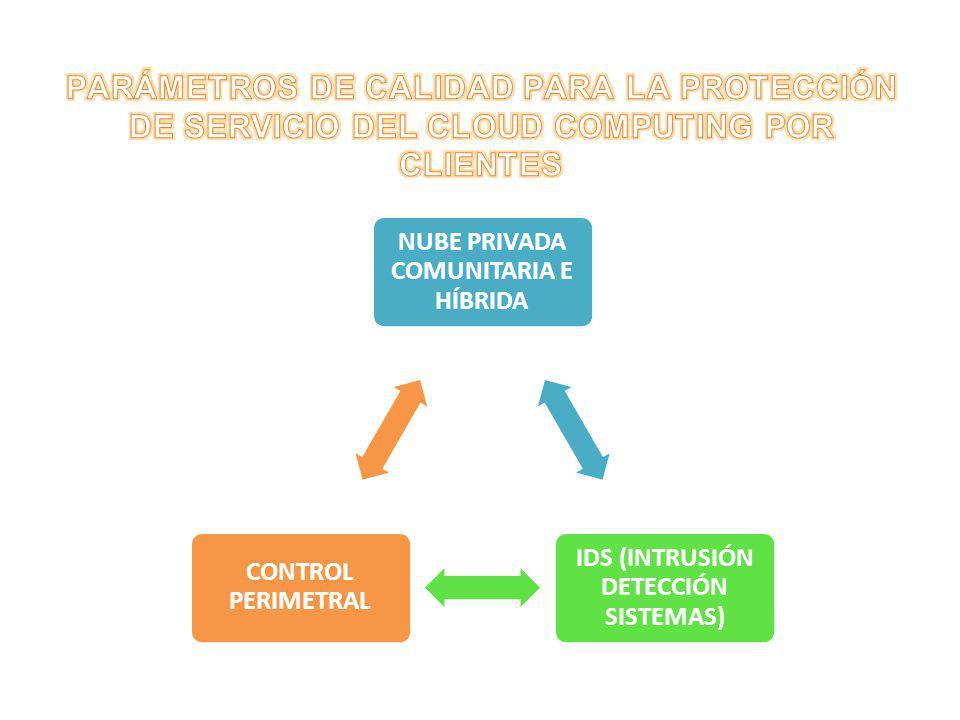 NUBE PRIVADA COMUNITARIA E HÍBRIDA IDS (INTRUSIÓN DETECCIÓN SISTEMAS) CONTROL PERIMETRAL