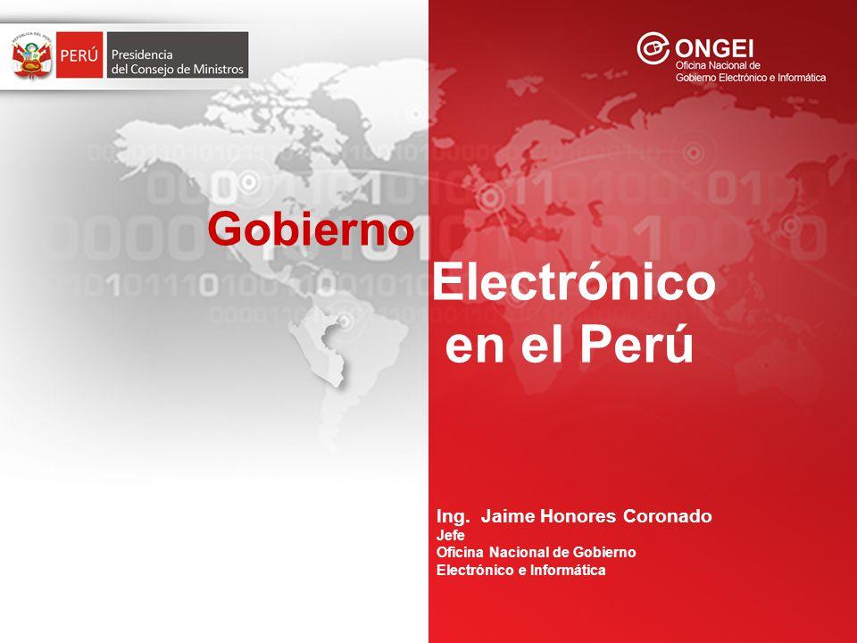 La PCM a través de la ONGEI, se encarga de normar, coordinar, integrar y promover el desarrollo de la actividad informática en la Administración Pública ( DS Nº 066-2003-PCM, DS Nº 067-2003-PCM).