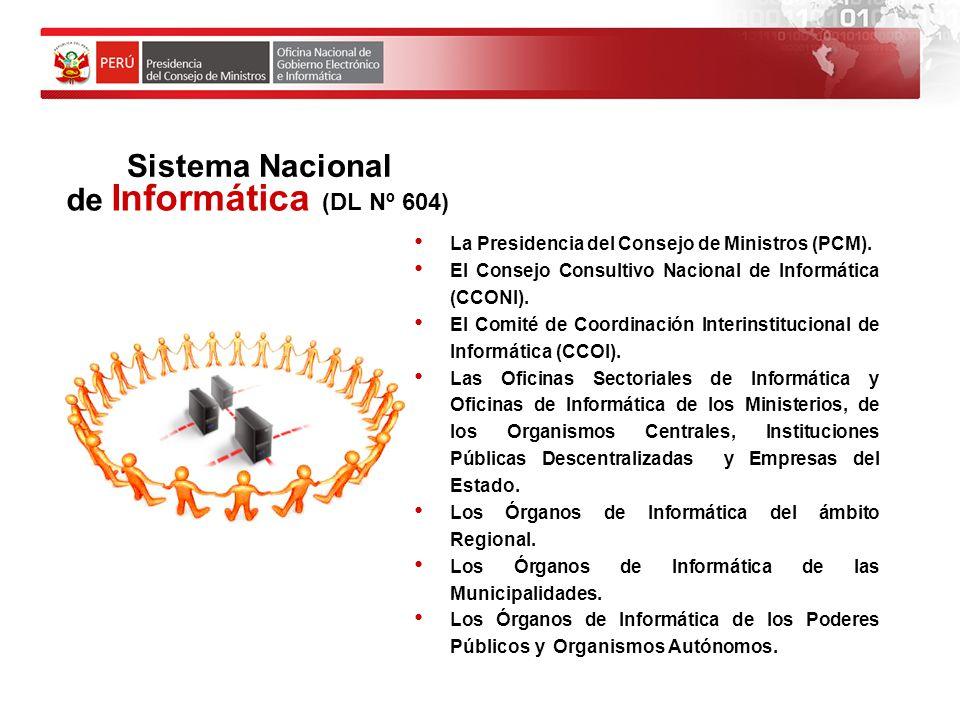 Objetivos de Gobierno Electrónico Estandarizar procesos en el área de informática.