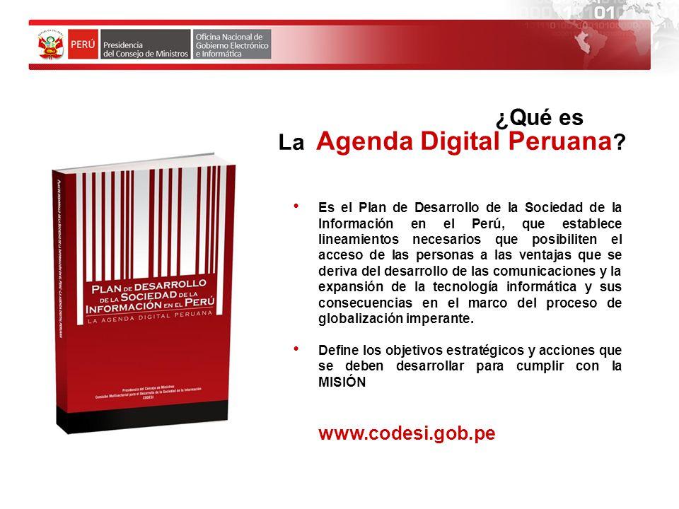 OBJETIVOS ESTRATEGICOS Objetivo 1 Disponer de infraestructura de telecomunicaciones adecuada para el desarrollo de la sociedad de la información.