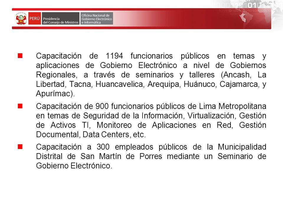 Próximas Actividades: Seminario de Gobierno Electrónico en las Regiones Piura y San Martin.