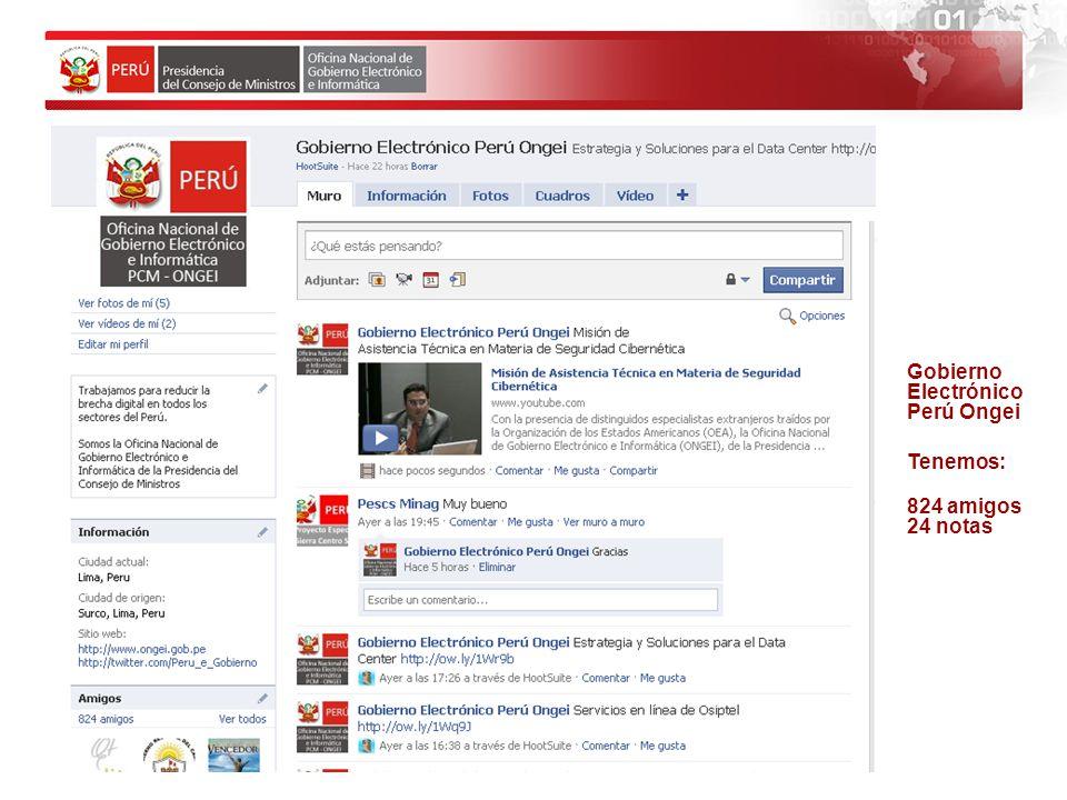 3,928 personas han visto los videos publicados en el canal Gobierno Electrónico Perú.