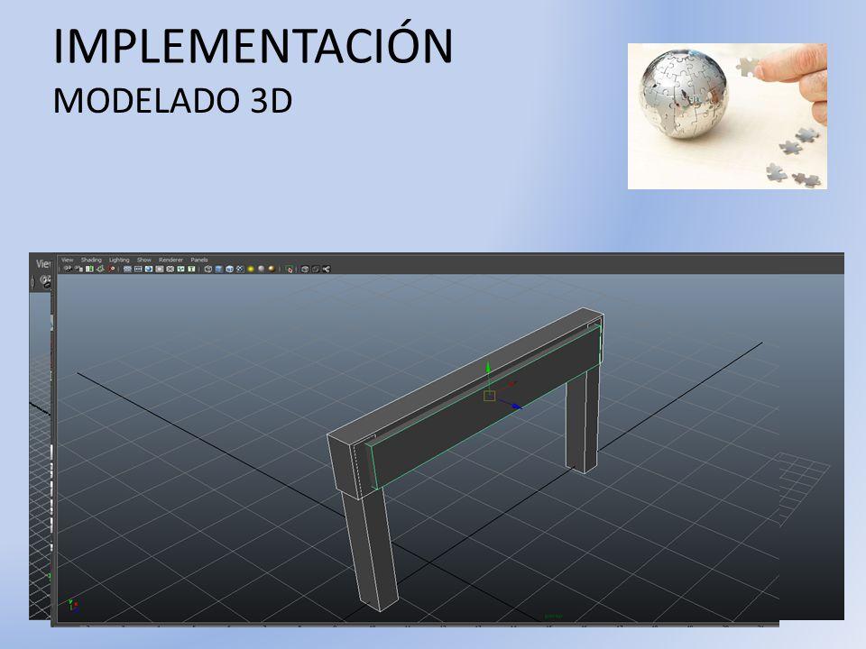 IMPLEMENTACIÓN MODELADO 3D