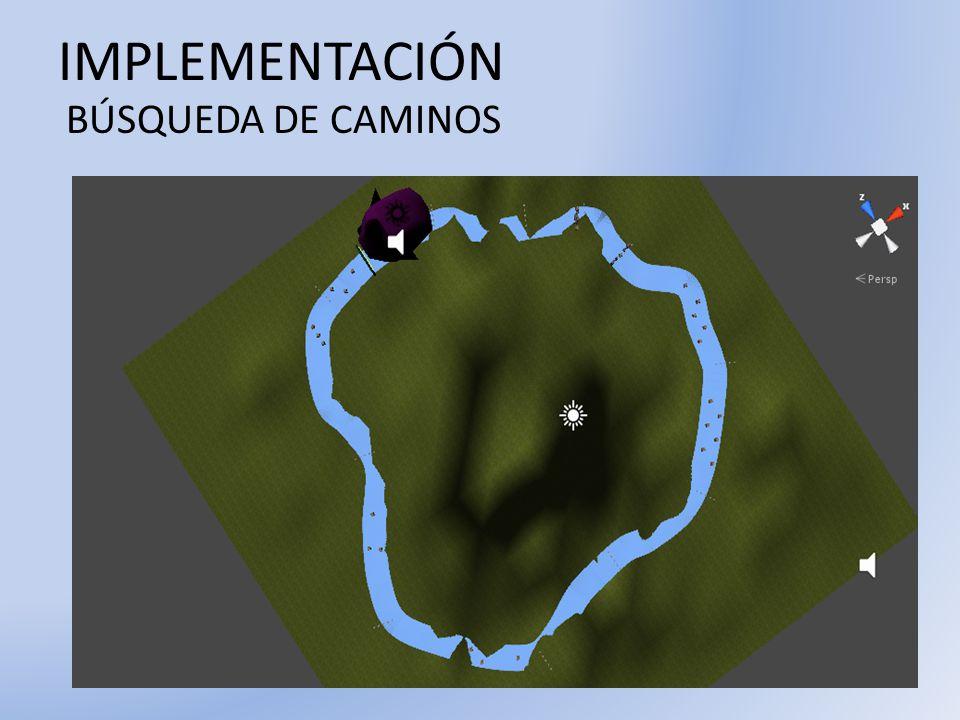 IMPLEMENTACIÓN BÚSQUEDA DE CAMINOS