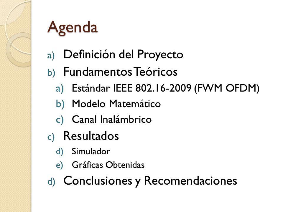 Fixed WirelessMAN OFDM Características Uso de OFDM Únicamente disponible para enlaces punto a punto.