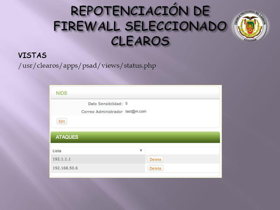 VISTAS /usr/clearos/apps/psad/views/status.php