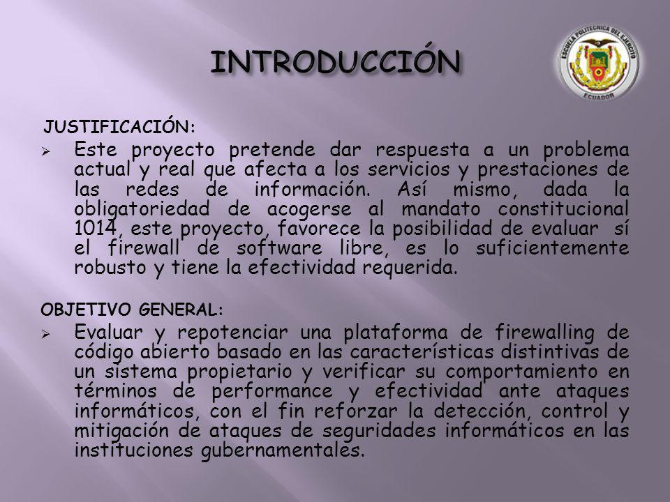 JUSTIFICACIÓN: Este proyecto pretende dar respuesta a un problema actual y real que afecta a los servicios y prestaciones de las redes de información.