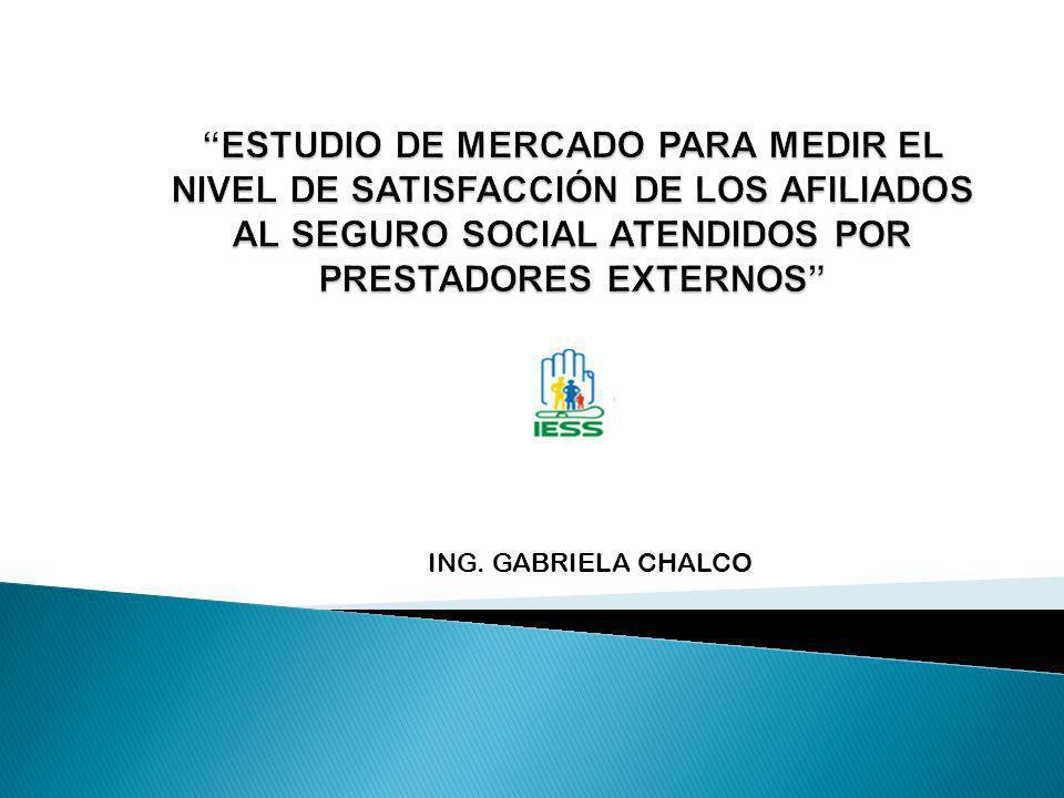 ING. GABRIELA CHALCO