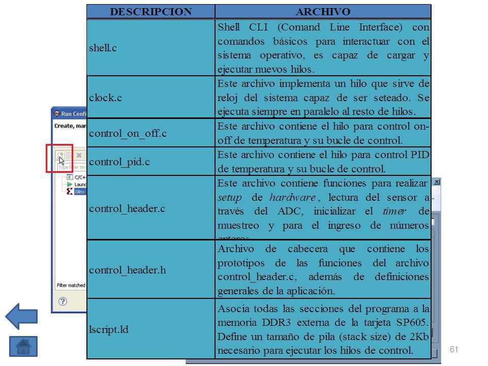 4 CREACIÓN DEL PROYECTO DE SOFTWARE 1 CREACIÓN DE UN WORKSPACE EN SDK 2 IMPORTACIÓN DE LA PLATAFORMA DE HARDWARE 3 CREACIÓN Y CONFIGURACIÓN DEL BSP 61