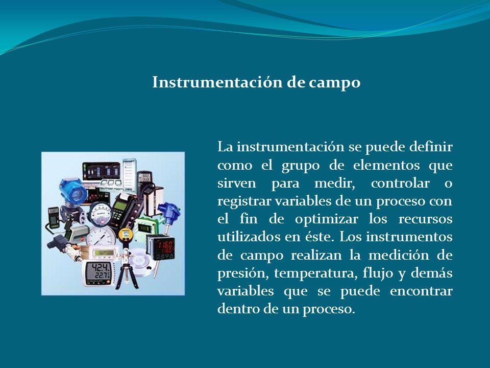 La instrumentación se puede definir como el grupo de elementos que sirven para medir, controlar o registrar variables de un proceso con el fin de opti