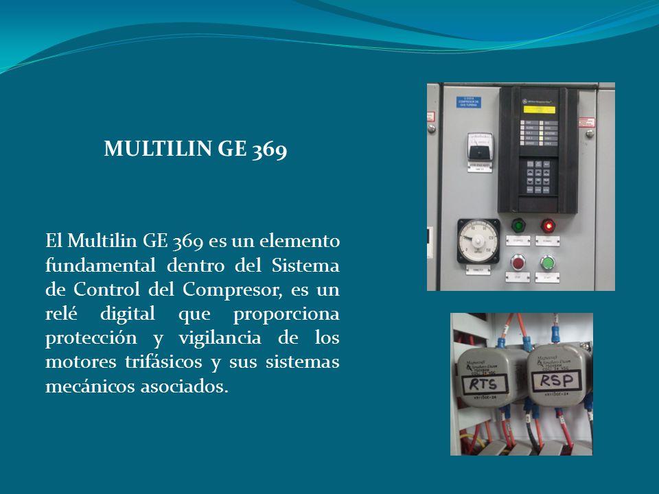 El Multilin GE 369 es un elemento fundamental dentro del Sistema de Control del Compresor, es un relé digital que proporciona protección y vigilancia