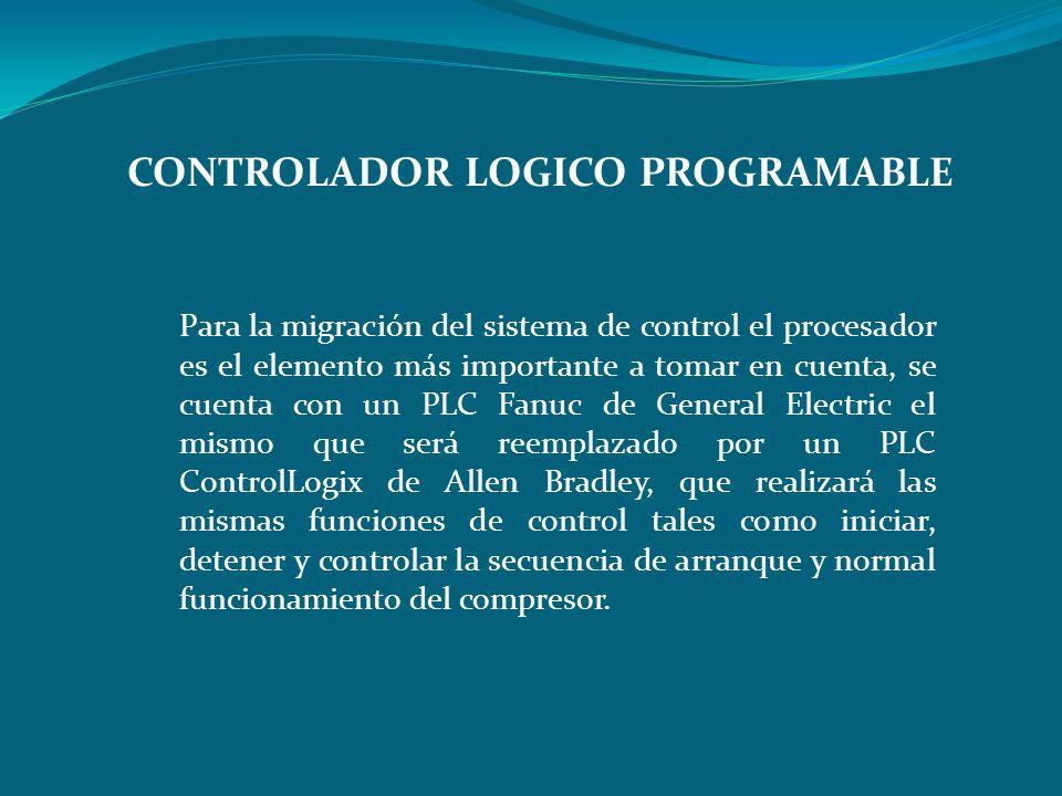 Para la migración del sistema de control el procesador es el elemento más importante a tomar en cuenta, se cuenta con un PLC Fanuc de General Electric