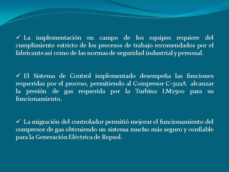La implementación en campo de los equipos requiere del cumplimiento estricto de los procesos de trabajo recomendados por el fabricante así como de las