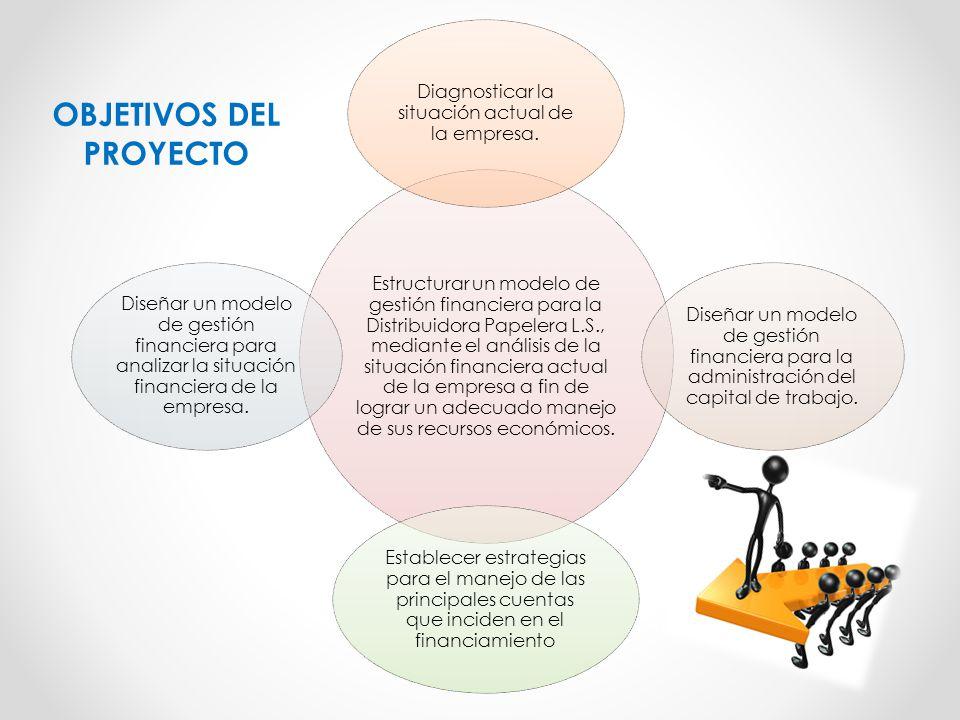 Estructurar un modelo de gestión financiera para la Distribuidora Papelera L.S., mediante el análisis de la situación financiera actual de la empresa