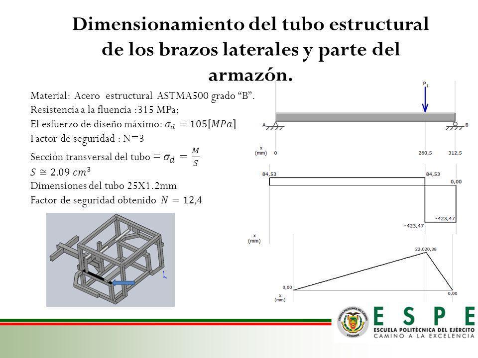 Selección y cálculo del perfil que sujetará los motores.