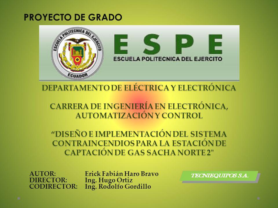 DEPARTAMENTO DE ELÉCTRICA Y ELECTRÓNICA CARRERA DE INGENIERÍA EN ELECTRÓNICA, AUTOMATIZACIÓN Y CONTROL DISEÑO E IMPLEMENTACIÓN DEL SISTEMA CONTRAINCEN