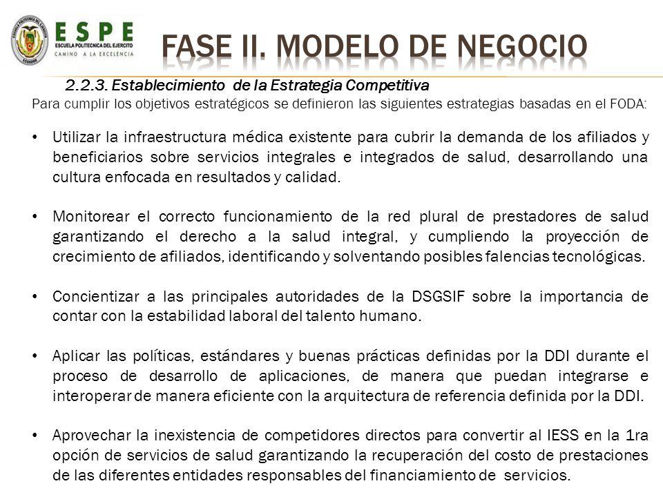 2.2.3. Establecimiento de la Estrategia Competitiva Para cumplir los objetivos estratégicos se definieron las siguientes estrategias basadas en el FOD