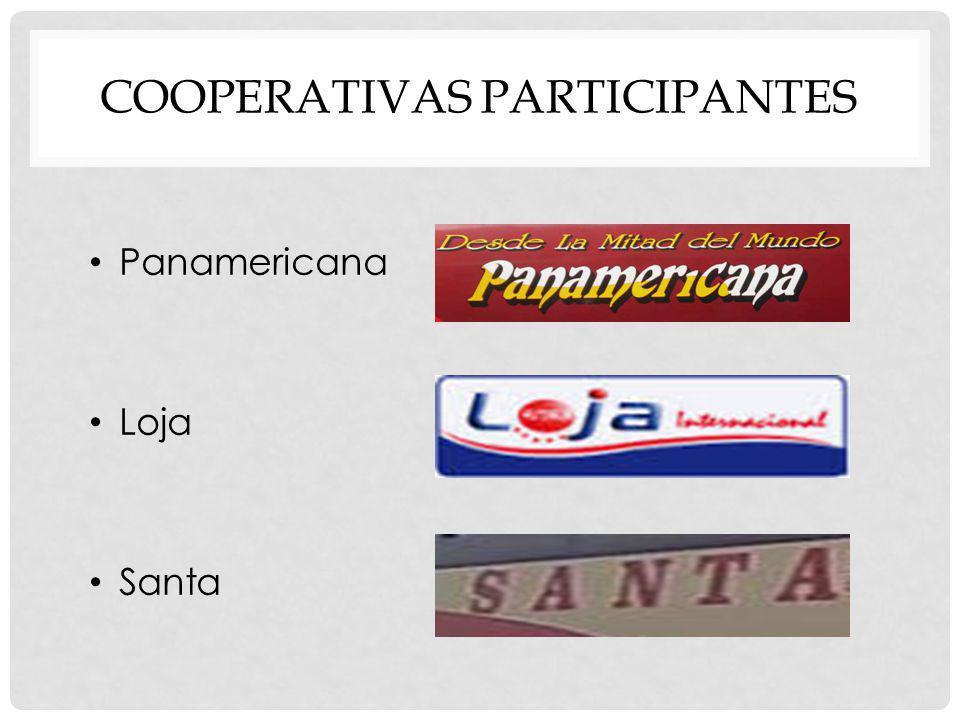 COOPERATIVAS PARTICIPANTES Panamericana Loja Santa