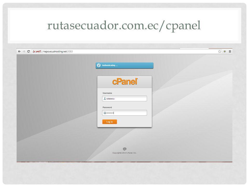 rutasecuador.com.ec/cpanel