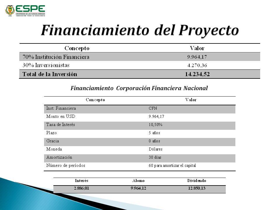 Financiamiento Corporación Financiera Nacional