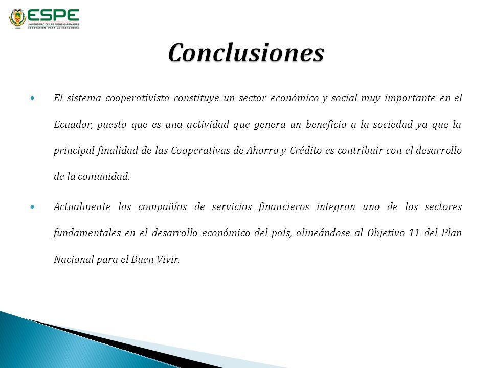 El sistema cooperativista constituye un sector económico y social muy importante en el Ecuador, puesto que es una actividad que genera un beneficio a