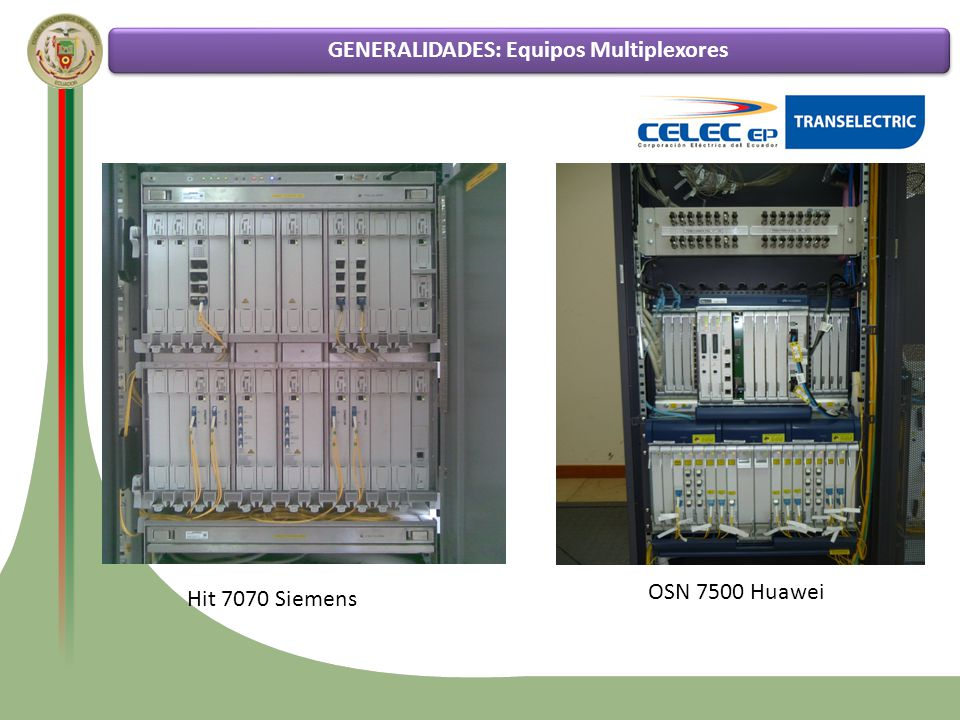Funcionamiento de la tecnología SDH Estado actual de la red de transporte SDH de CELEC EP – TRANSELECTRIC Análisis comparativo entre los diversos tipos de protecciones GENERALIDADES: Finalidad Pruebas de funcionamiento de los diferentes esquemas de protección en la red SDH de CELEC EP - TRANSELECTRIC La finalidad del proyecto es probar los múltiples tipos de protecciones para la red de transporte SDH en el tendido de fibra óptica que se posee en todo el país, tanto en topologías en anillo como en topologías lineales, con las marcas de multiplexores SDH SIEMENS y HUAWEI.