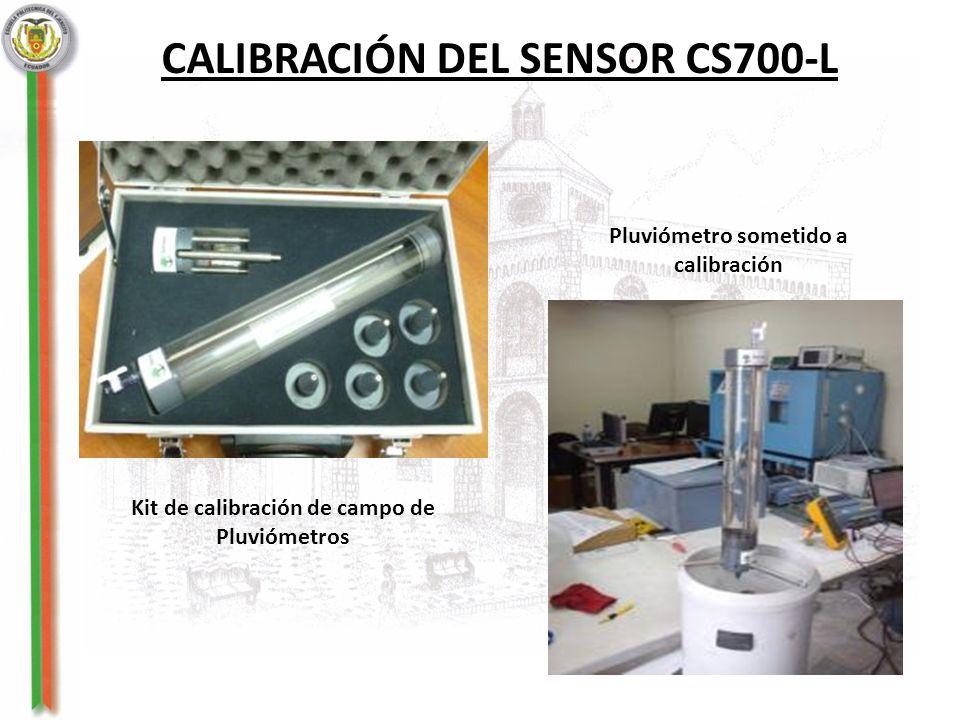 CALIBRACIÓN DEL SENSOR CS700-L Kit de calibración de campo de Pluviómetros Pluviómetro sometido a calibración