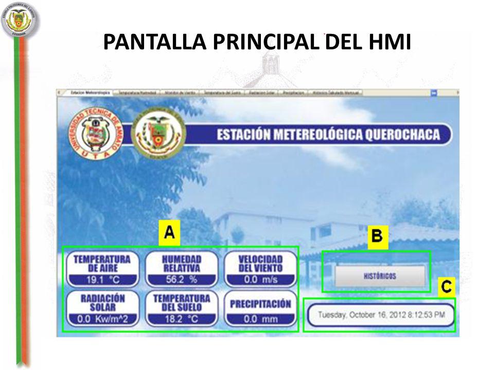 PANTALLA PRINCIPAL DEL HMI