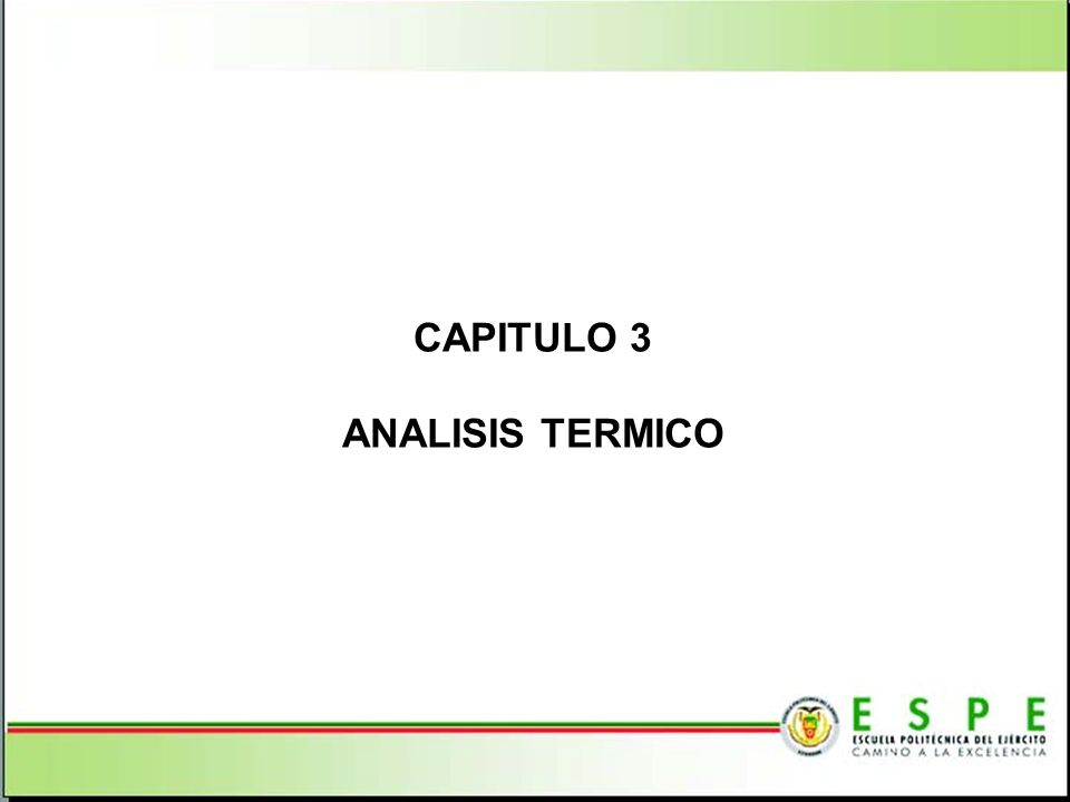 CAPITULO 3 ANALISIS TERMICO