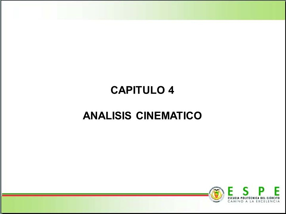 CAPITULO 4 ANALISIS CINEMATICO