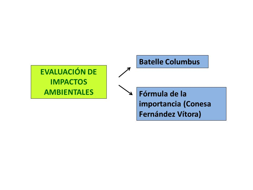Batelle Columbus Fórmula de la importancia (Conesa Fernández Vítora)