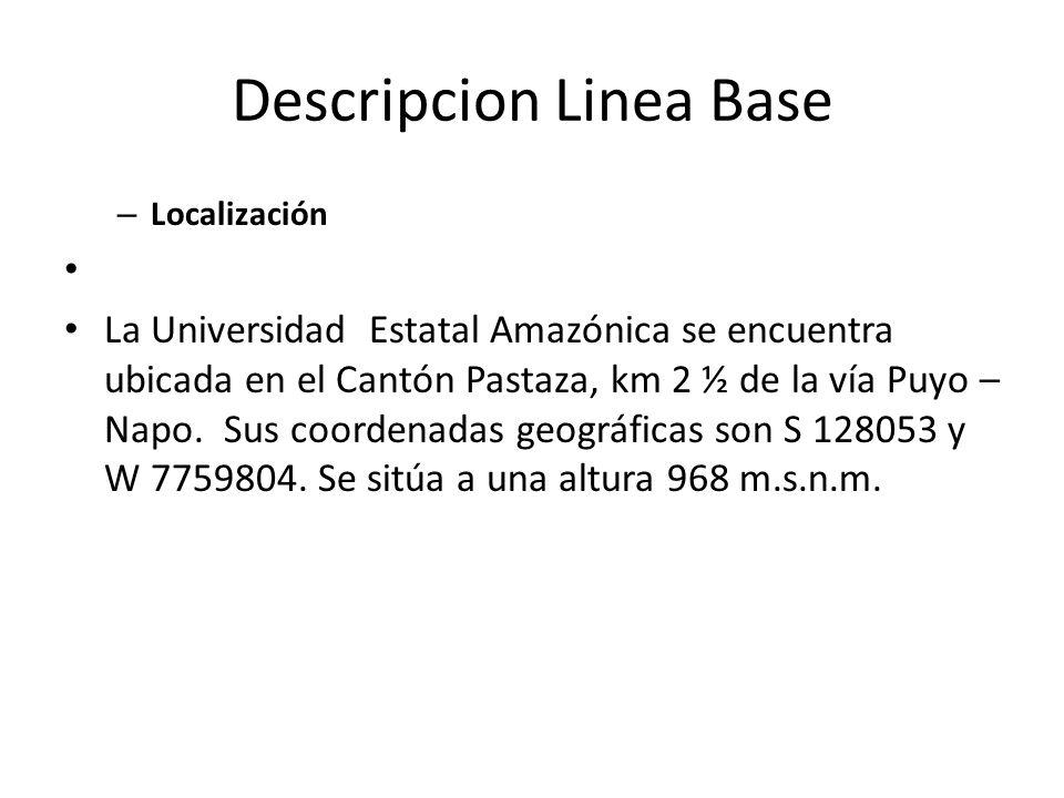 – Localización La Universidad Estatal Amazónica se encuentra ubicada en el Cantón Pastaza, km 2 ½ de la vía Puyo – Napo. Sus coordenadas geográficas s