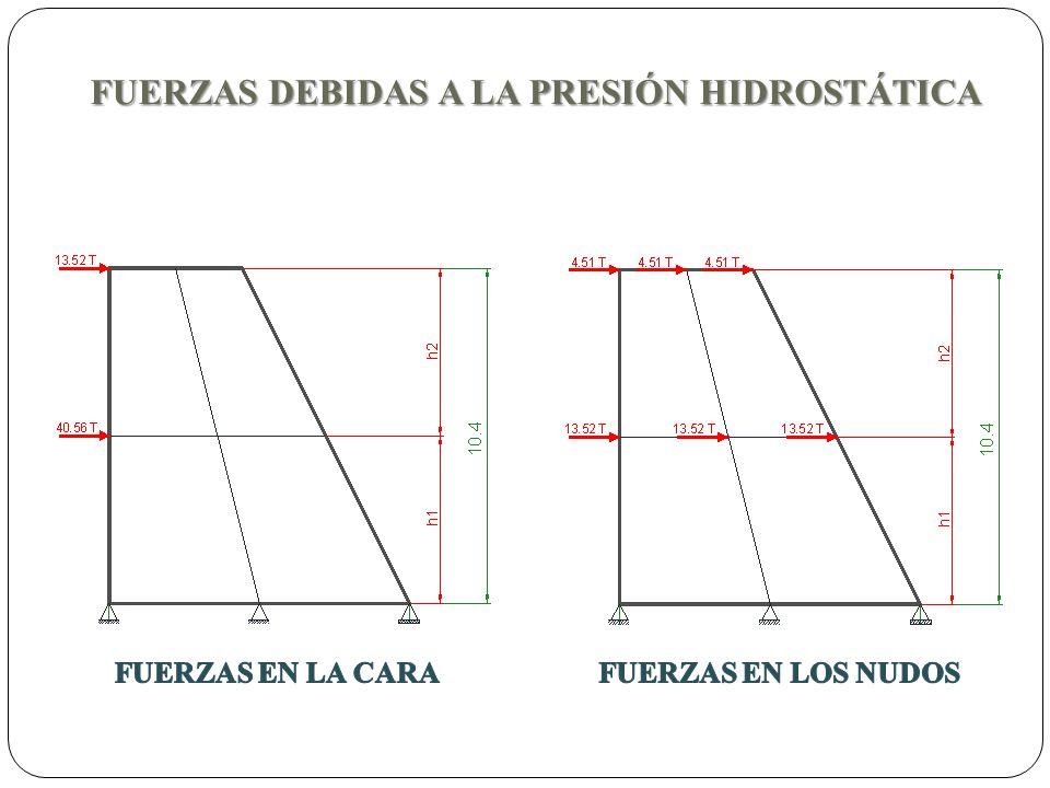 FUERZAS DEBIDAS A LA PRESIÓN HIDROSTÁTICA