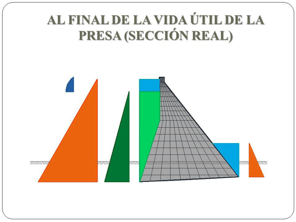 AL FINAL DE LA VIDA ÚTIL DE LA PRESA (SECCIÓN REAL)