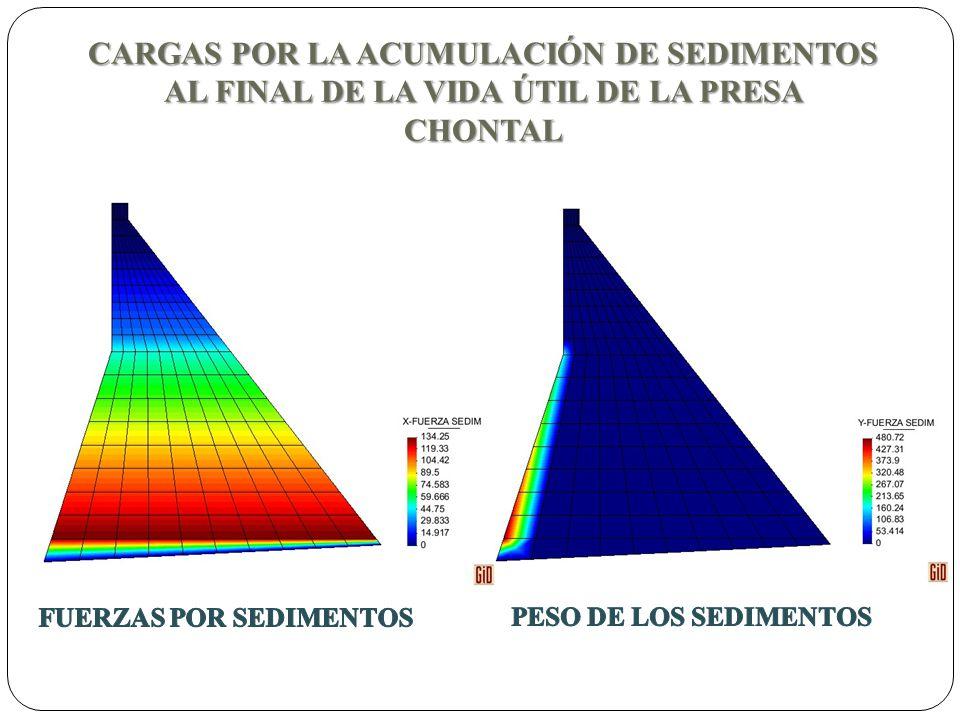 CARGAS POR LA ACUMULACIÓN DE SEDIMENTOS AL FINAL DE LA VIDA ÚTIL DE LA PRESA CHONTAL