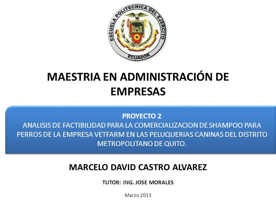 PROYECTO 2 ANALISIS DE FACTIBILIDAD PARA LA COMERCIALIZACION DE SHAMPOO PARA PERROS DE LA EMPRESA VETFARM EN LAS PELUQUERIAS CANINAS DEL DISTRITO METROPOLITANO DE QUITO.