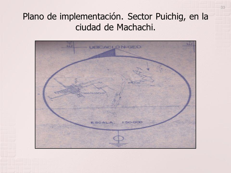 Plano de implementación. Sector Puichig, en la ciudad de Machachi. 33