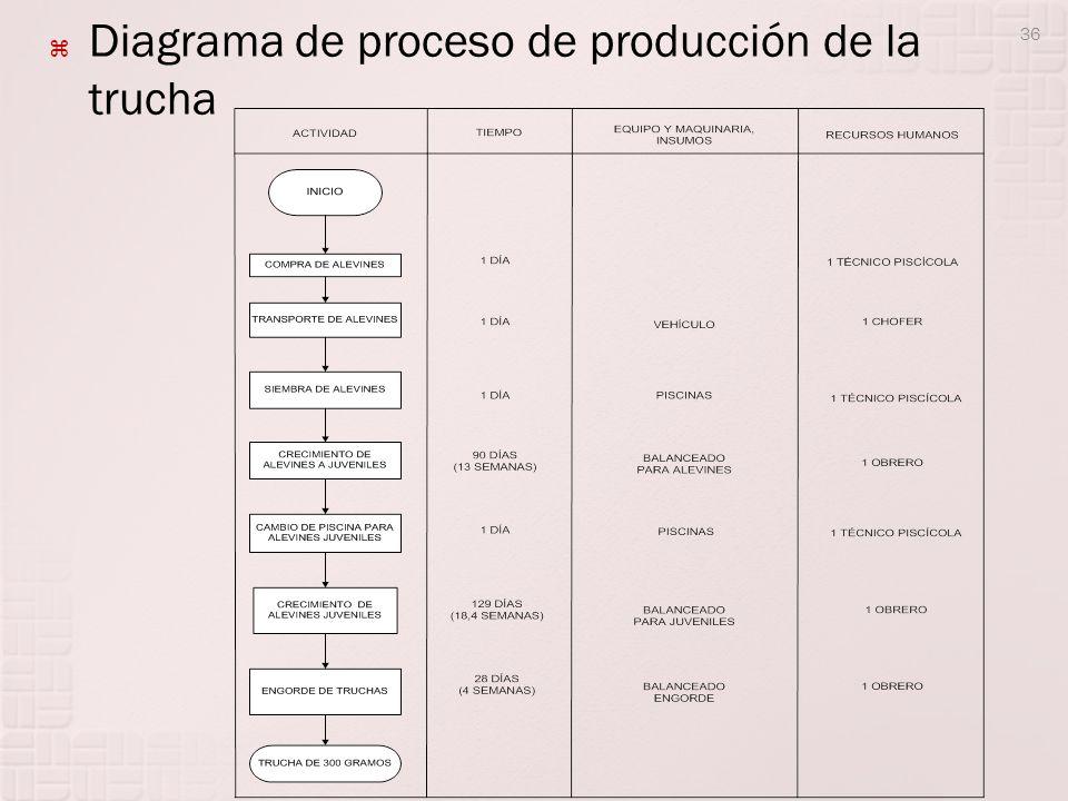 Diagrama de proceso de producción de la trucha 36
