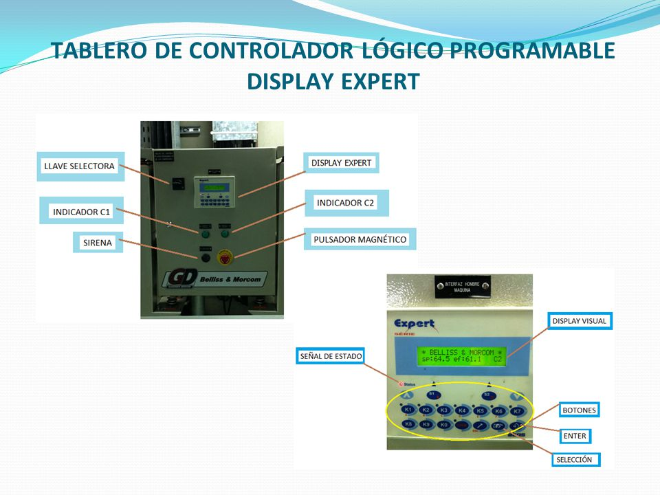 TABLERO DE CONTROLADOR LÓGICO PROGRAMABLE DISPLAY EXPERT
