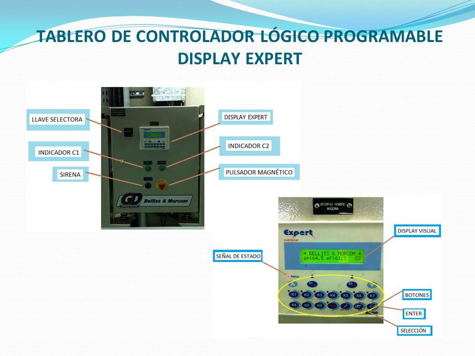 FUNCIONAMIENTO Control automático Control manual El control automático del sistema de aire comprimido esta comandado por una serie de relés, el PLC y un display.
