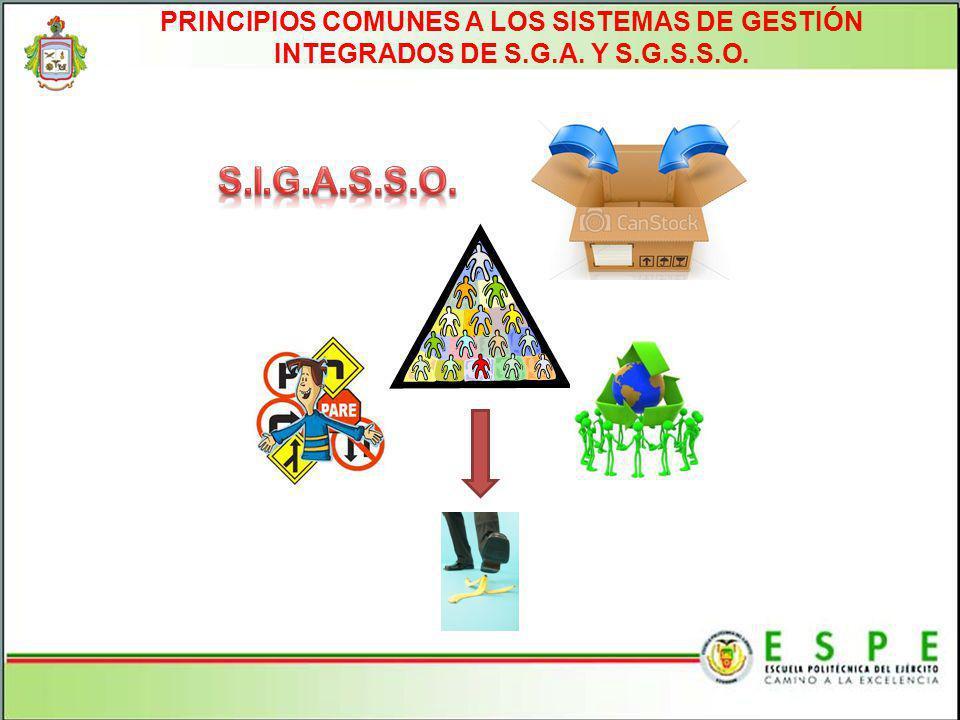PRINCIPIOS COMUNES A LOS SISTEMAS DE GESTIÓN INTEGRADOS DE S.G.A. Y S.G.S.S.O.