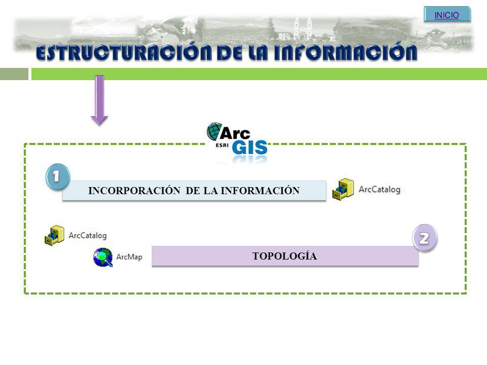 INCORPORACIÓN DE LA INFORMACIÓN TOPOLOGÍA
