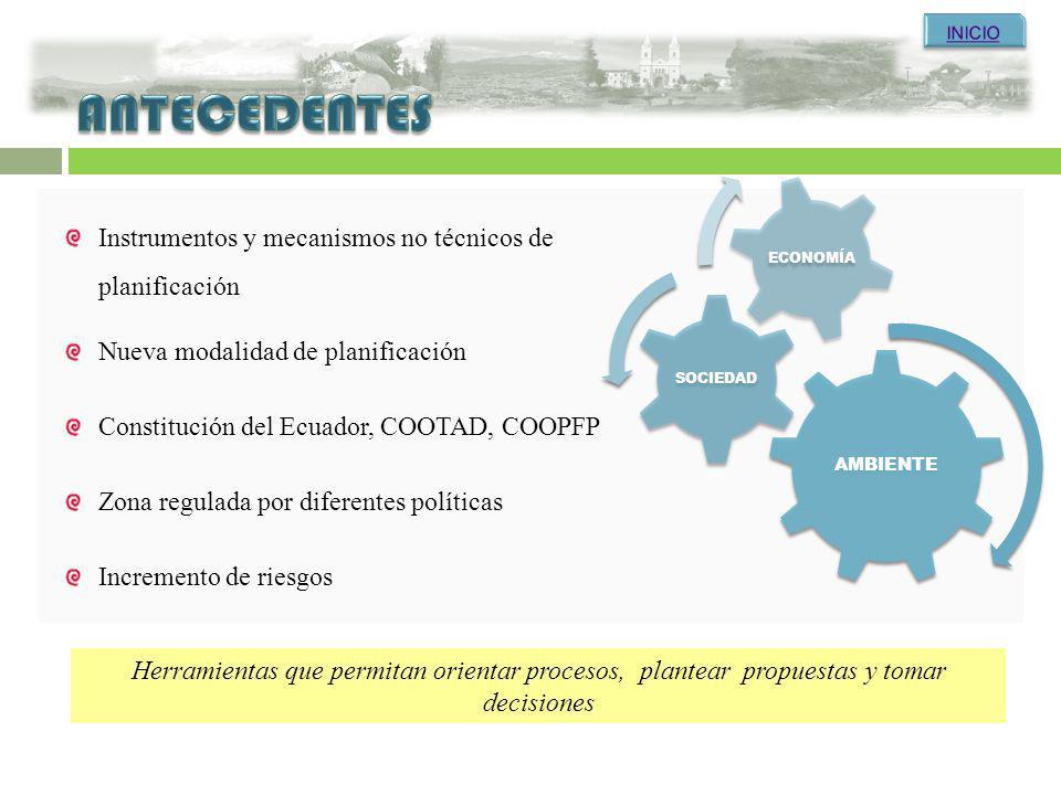 Herramientas que permitan orientar procesos, plantear propuestas y tomar decisiones Zona regulada por diferentes políticas Nueva modalidad de planific