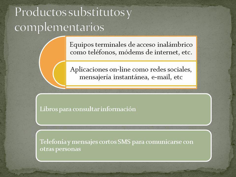Libros para consultar información Telefonía y mensajes cortos SMS para comunicarse con otras personas Equipos terminales de acceso inalámbrico como te