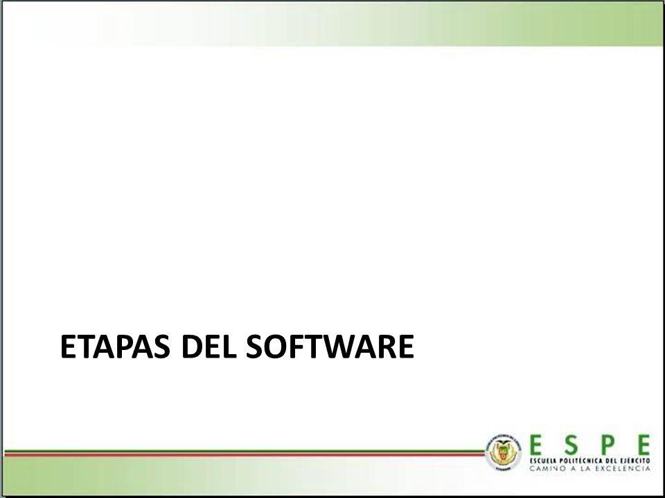 ETAPAS DEL SOFTWARE
