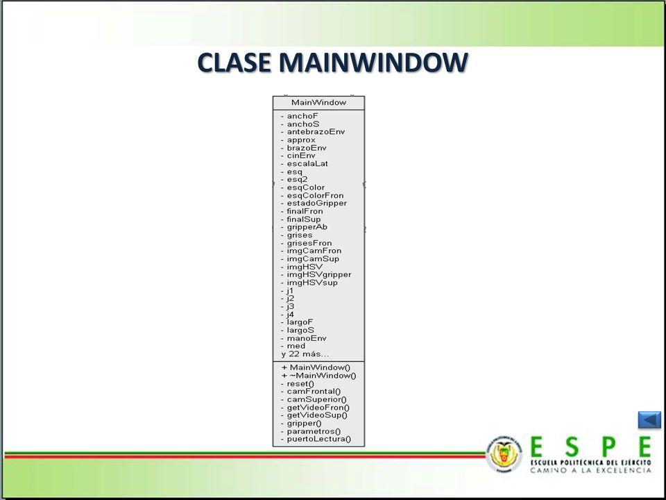 CLASE MAINWINDOW